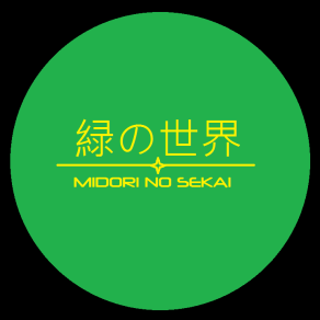 Midori No Sekai Logo Full Color (black background)